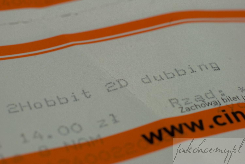 Hobbit i pustkowie Smauga bilet