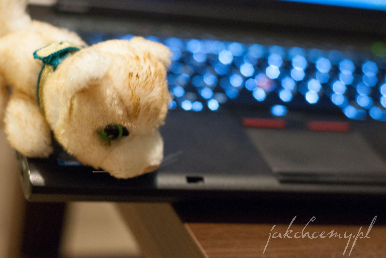 komputer i maskotka