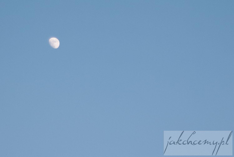księżyc w dzień