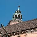 Wrocławska ratuszowa wieża i niebo