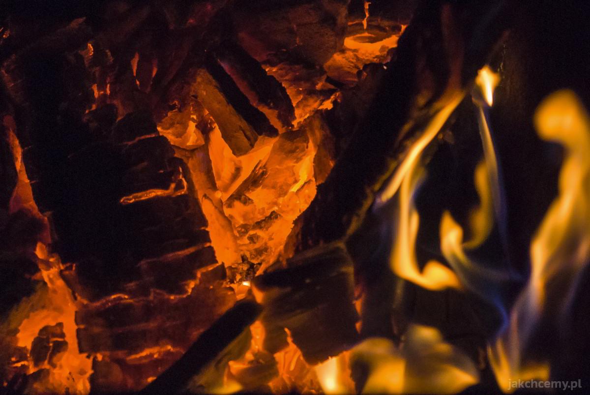 Ogień w piecu