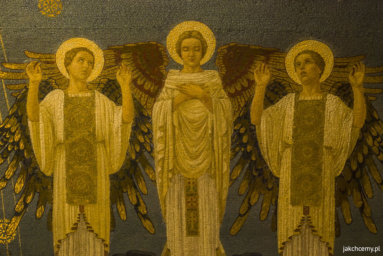 Góra Tabor mozaika w kościele