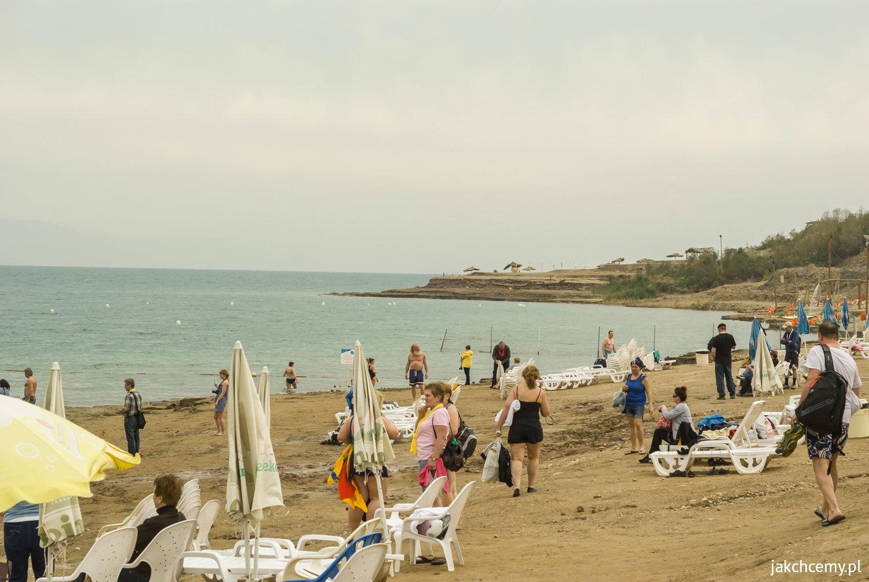 Morze Martwe. Plaża.