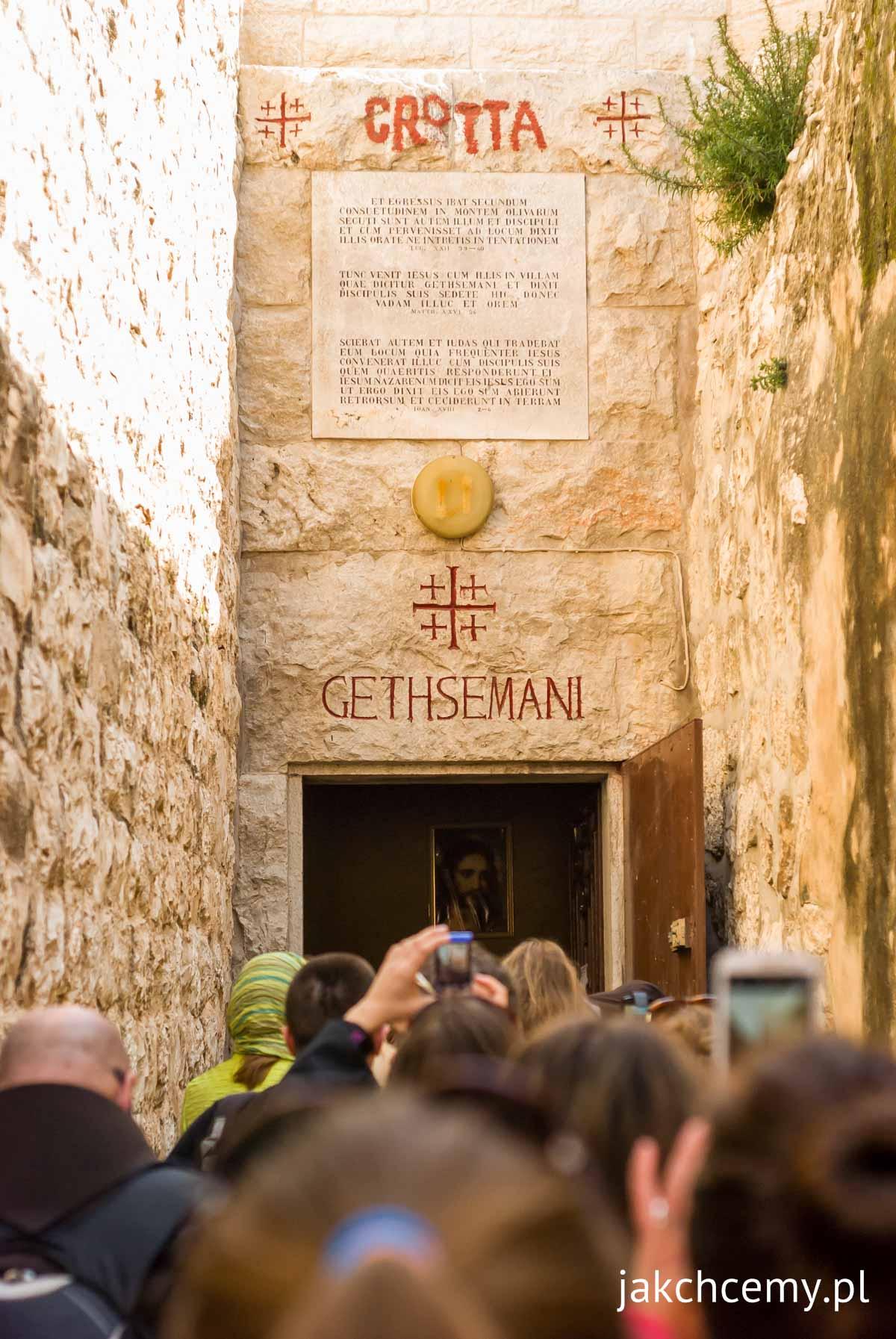 Jerozolima, grota Gethsemani