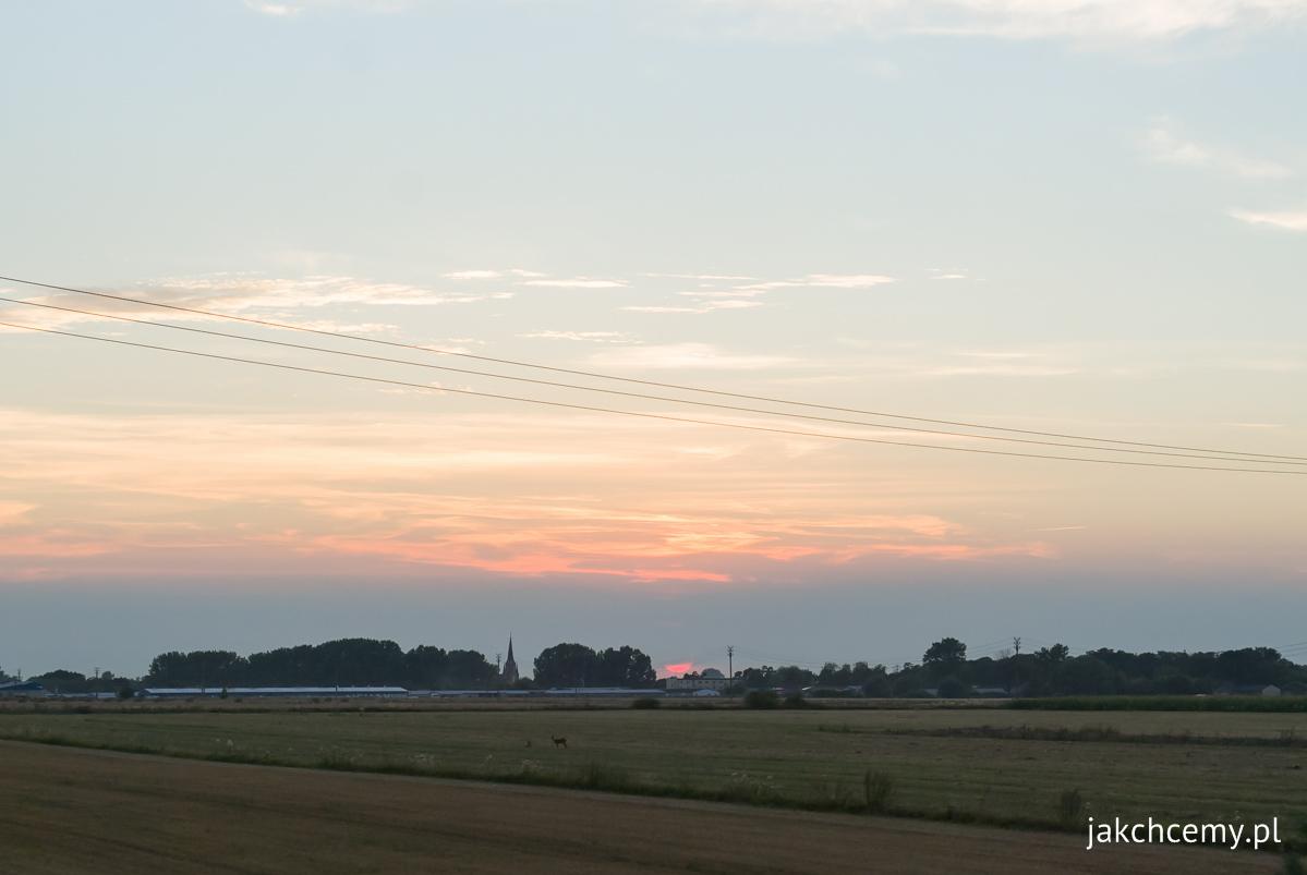 Zachód Słońca z pociągu